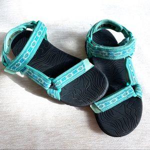 Teva Hurricane Teal Sandals Youth Size 1
